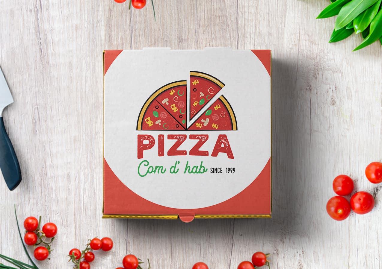 Logo Pizza Com d'Hab